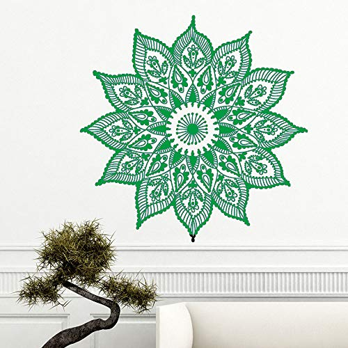 Mandala wall sticker decorazione camera da letto in vinile art design decorazione fai da te applique decorazione bellezza ~ 1 42 * 42 cm