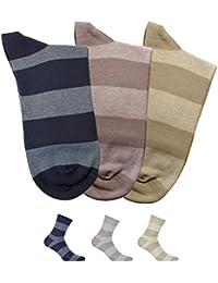 Gatta Perfect Men Casual Soft Cotton Socken V1-3 - 3er Pack - bunt gestreift-gemusterte elegante Männer Herrensocken