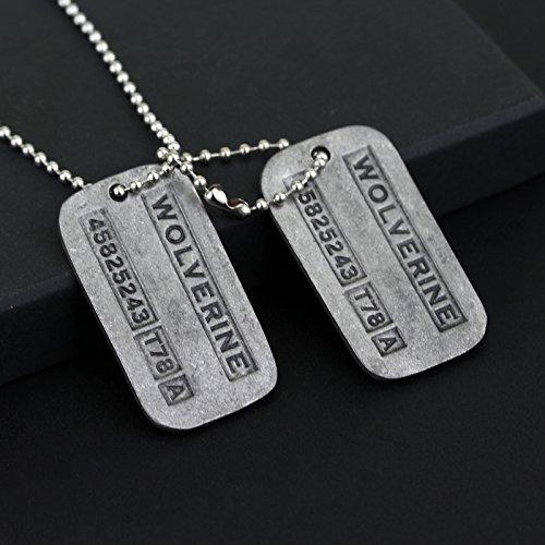 X men wolverine logan doble dog tag collar de cadena