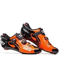 Sidi Road Wire Carbon Push–Zapatos de ciclista Naranja/Negro, unisex, 48