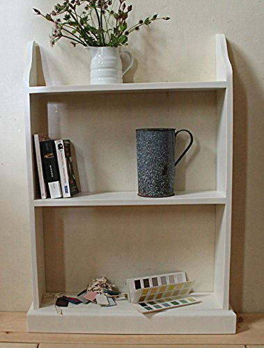 """Goodwood Originals Free stand bookcase IVORY (18"""")"""
