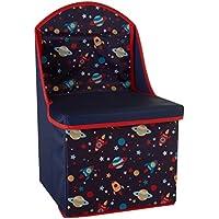 Preisvergleich für Premier Housewares Kinder Aufbewahrungsbox/Sitz–Schmetterling Design, Holz, holz, navy, 28x28x48 cm