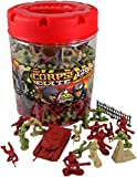 Super Barrel: 120 pieces military army play set including soldiers, vehicles, bases & more by Lanard