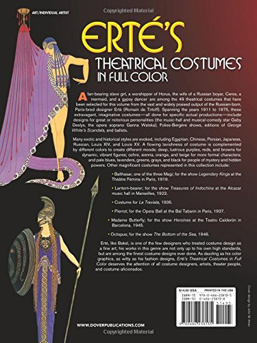 Theatrical Costumes in Full Colour (Dover Fine Art, History of Art)