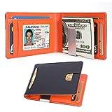 Kinvac RFID Blocking Money Clip Wallet-Mens Wallets Slim Front Pocket RFID Blocking Card