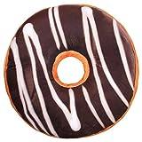 Kissen Donut Kissen Donutkissen Deko Kissen Dekokissen Sitzkissen Kuschelkissen Doughnut ca. 40 cm rund (Schoko)