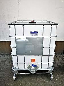 1000 liter ibc container wassertank tank rollcontainer mobil auf rollen garten. Black Bedroom Furniture Sets. Home Design Ideas