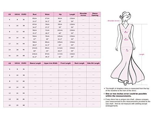 Ever Pretty Damen Elegant Rundhals Lang Geblümt Lace V-Ausschnitt Abendkleid 08715 Dunkelgrün