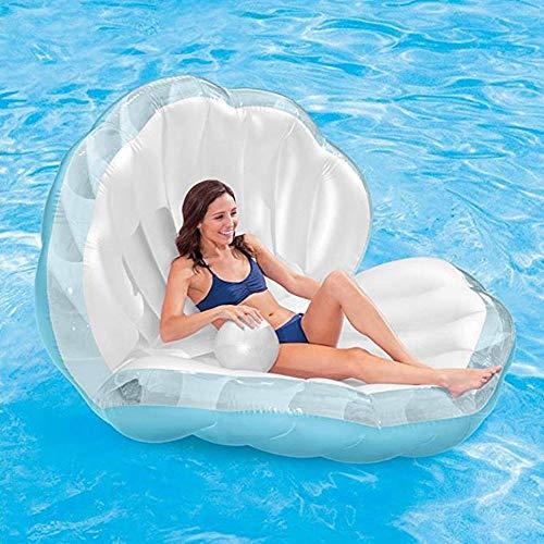 Aufblasbare Shell schwimmende Reihe/Luftmatratze/Pearl Ball fächerförmige Mount Mermaid Wasser/aufblasbare schwimmende Bett - Twin Full Luftmatratze