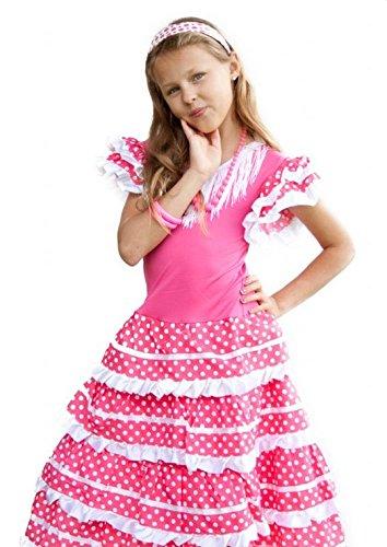 La Senorita Per Ragazzabambini Flamenco Spagnolocostume Vestito w4g6a