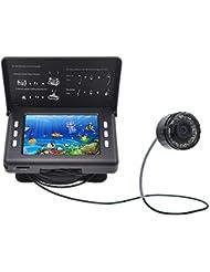 XIKEZAN Echolot Fischfinder 1000TVL Unterwasser Fische Video Kamera mit 8,9 cm Farbe LCD Bildschirm & Infrarot-LEDs und 15 m Kabel (F7)
