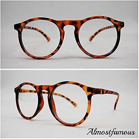 Ranura de Hipster Geek tortuga Retro Geek Vintage Wayfarer Nerd moda marco negro lente transparente gafas gafas de Reino Unido mundo ojo