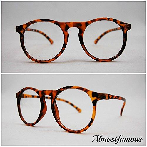 Schlüsselloch Hipster Geek Schildkröte Retro Geek Vintage Wayfarer Brille Nerd Frame Fashion Schwarz Clear Lens UK