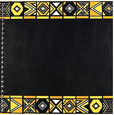 3dRose db_76556_1 Brown and Black African Pattern Art of Africa Inspired by Zulu Beadwork Geometric Designs Drawing Book, 8 by