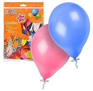 Party- Pack 100 globos, 23 cm, Multicolor (68374)