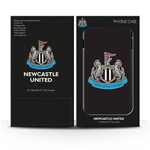 Officiel Newcastle United FC Coque / Etui Gel TPU pour Apple iPhone 6S+/Plus / Mono/Blanc Design / NUFC Crête Football Collection Couleur/Noir