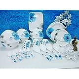 Regalia Platinum Melamine Set Of 41 Pcs Serving Dinner Set_IMI-DS506