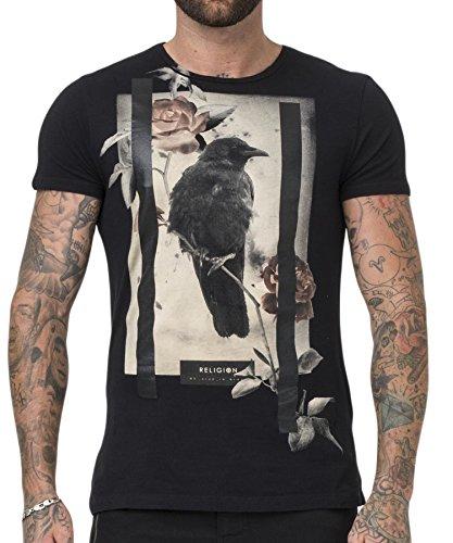 Religion Clothing Herren T-Shirt Shirt Lone Crow Schwarz