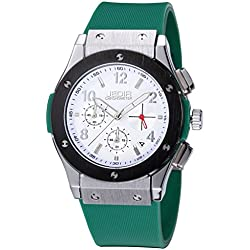 YPS Men Number&Nail Shape Scale Quartz Movement Multifunction Sub Dials Calendar Luminous Wrist Watch WTH5315