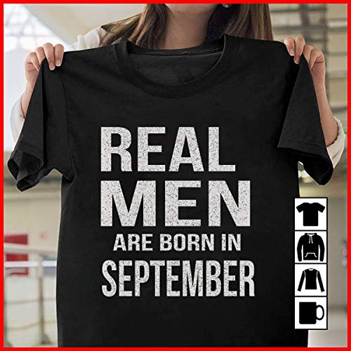Never Underestimate An Old Man Who Was Born In September T Shirts Vintage Retro Birthday T-shirts Anniversary Birth Present Man Attractive Appearance Men's Clothing Tops & Tees