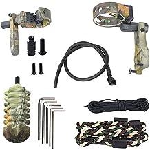 Funtress Tiro con Arco Tiro con Arco Accesorios Set Kit de actualización de 5 Pin Bow Sight con el Nivel y la luz Resto de la Flecha Estabilizador Honda pío ...