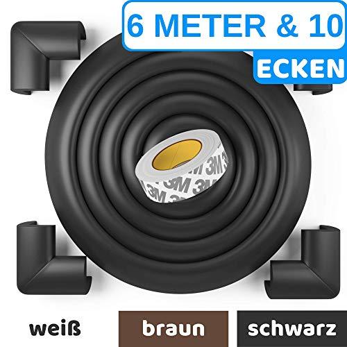 Premium Kantenschutz von BEARTOP™ - weiß, schwarz, braun - sehr starker Kleber für dauerhaften Schutz - für Tische, Arbeitsplatten, Kommoden usw. - aus weichem Schaumstoff -100{209e4bd6d49c9acd35aa57f7a6f5e68568af813037d1df8486cf41012d03fefa} ZUFRIEDENHEITSGARANTIE