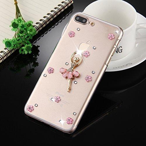 Wkae Fevelove Diamond verkrustete Tanzen Girl Pattern Schutzhülle für iPhone 7 Plus ( SKU : Ip7p2980a ) Ip7p2980c