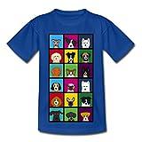 Spreadshirt Hunde Köpfe 18 Arten Rassen Kinder T-Shirt, 98/104 (3-4 Jahre), Royalblau