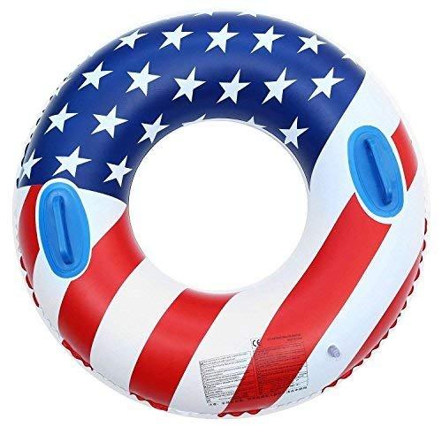 fblasbar Pool schwimmt, Giant Flagge Schwimmen Ring Toys für Erwachsene und Kinder, Sommer Strand Funny Wasser groß Float Pool 89,9cm (zufällige Stil) ()
