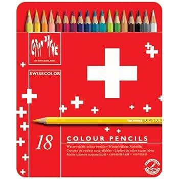 Caran d-Ache 1285.718 Crayons de Couleur Aquarellables