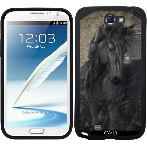 515fyBDawyL BEST BUY #1Silicone Case for Samsung Galaxy Note 2 (GT N7100)   Gothic Friesian Horse by Gatterwe