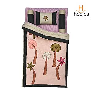 Habios Baby Cotton Quilt - Buzzing Bees, 36 x 45 Inches