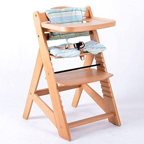 Consigue trona estafa escalera silla para ni os trona de for Silla de bebe de madera