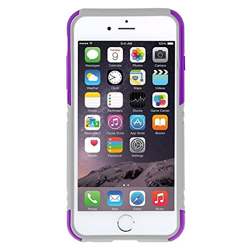 Wkae Case Cover haweel dual layer - combo tpu bei kickstand für das iphone 6 plus ( Color : Red ) Purple