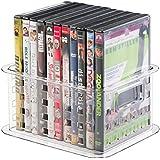 mDesign - Recipiente para almacenamiento en el hogar; guarda DVDs, video juegos y mucho más - chico - Claro