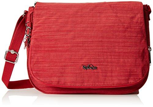 Kipling Earthbeat M, Borsa a Tracolla Donna, Rosso (REF33U Dazz Red), 30x22.5x10.5 cm (B X H X T)