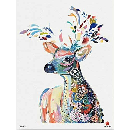 Blume Arm Tattoo Sticker Sticker Sikahirsch Tier Pflanze TH-001 148 * 210MM