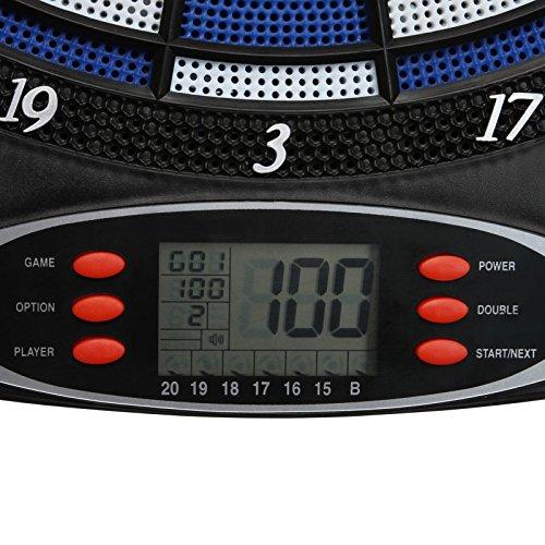 Elektronische Dartscheibe elektronisches Dartboard Darts Dartsport in drei verschiedenen Farben inkl. 6 Dartpfeilen - 4