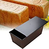 Bandeja de pan antiadherente, molde para pan tostado con tapa Moldes de pan para pan metal para hacer pasteles y tostadas