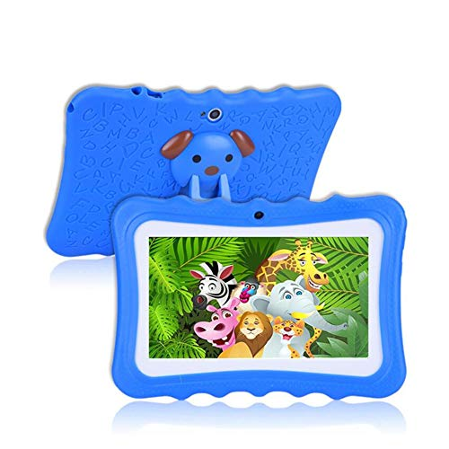 7 Inch A33 Kids Tablet 1024 * 600 Android 4.4 Quad Core 512MB+8GB Bluetooth WiFi Colorful Crash Proof Christmas es Greatest Gift for Children-1pcs,Blue