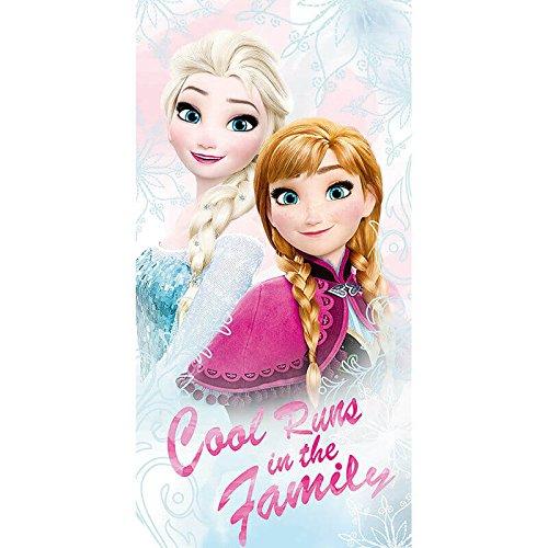 Disney Die Eiskönigin WD17727 Badetuch, Handtuch, Strandtuch, Baumwolle, Elsa, Anna, Frozen