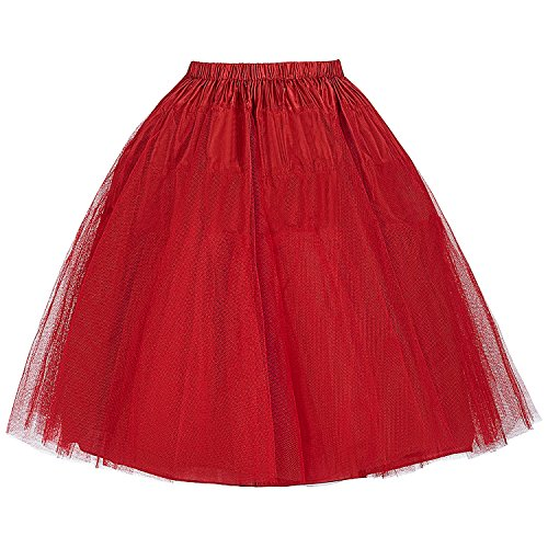 Retro Rock Damen Reifrock Unterröcke Kurz Petticoat