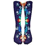 NEW Norwegian Traditional Pattern Athletic Tube Stockings Women's Men's Classics Knee High Socks Sport Long Sock One Size