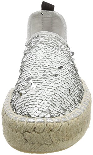 Colours of California Damen Double Sole Espadrille in Sequins Weiß (White)