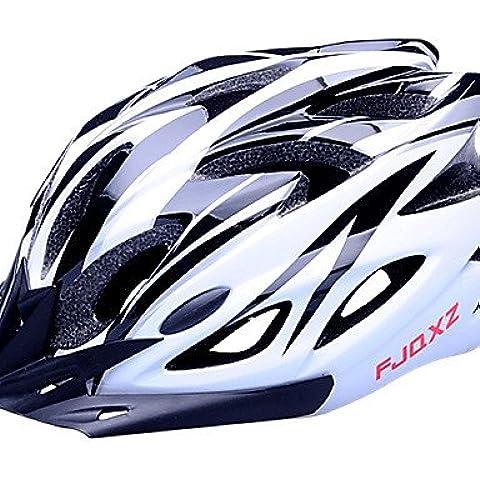 PIGE FJQXZ EPS + PC Blanco y Negro Integralmente moldeadas Casco de Ciclista (18 Vents)