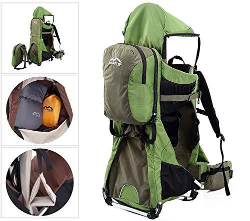 Montis Ranger Pro Babytragerucksack (Kindertrage Babytrage Tragerucksack Kinder-kraxe Kindertragerucksack Rückentrage Wandertrage Baby Carrier Rucksacktrage Trage-Rucksack Trage Rücken Carrier)