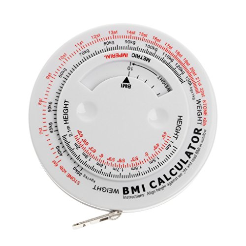 Body-mass-index Bmi-rechner (Cuigu Index Retractable Tape - BMI Body Mass Index Retractable Maßband Diät Abnehmen Rechner, 150cm)