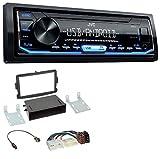 caraudio24 JVC KD-X151 1DIN USB Aux MP3 Autoradio für Dacia Logan Sandero Opel Vivaro
