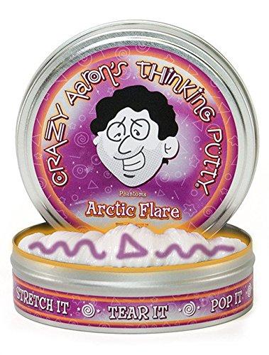 Crazy Aaron Crazy Aaron's Thinking Putty Arctic Flare w/ Blacklight Keychain Putty