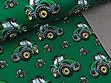 Swafing Softshell Fiete Traktoren auf Dunkelgrün